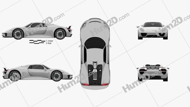Porsche 918 Spyder 2015 Clipart Image