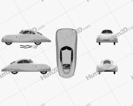 Porsche Type 64 1939 Clipart