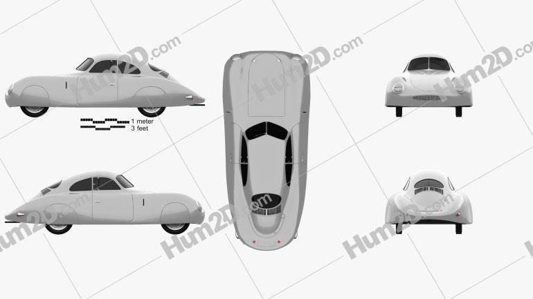 Porsche Type 64 1939 car clipart