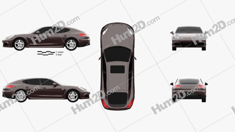 Porsche Panamera 2014 Clipart Image