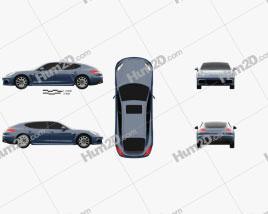 Porsche Panamera 4S Executive 2014 car clipart