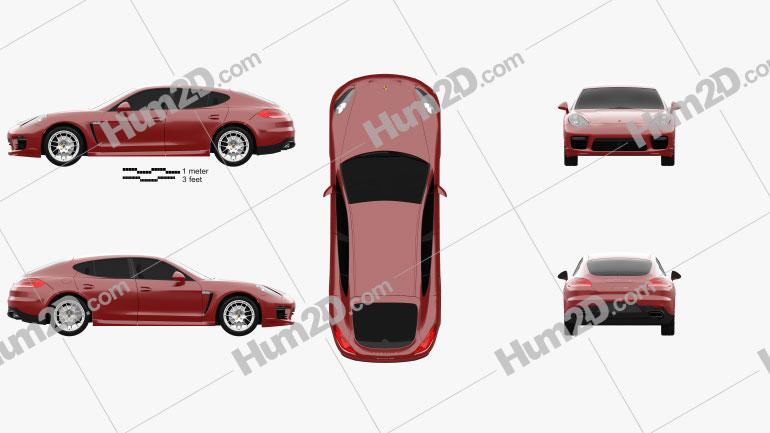 Porsche Panamera GTS 2014 car clipart