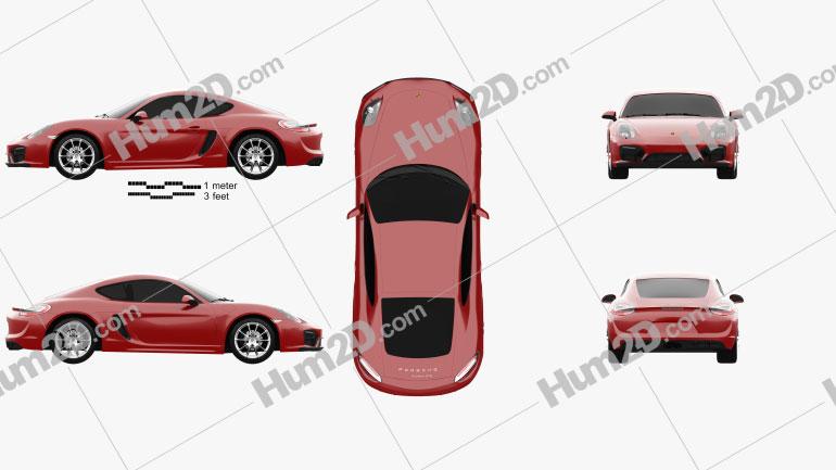 Porsche Cayman GTS 2014 car clipart
