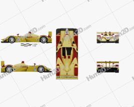 Porsche RS Spyder 2008 car clipart