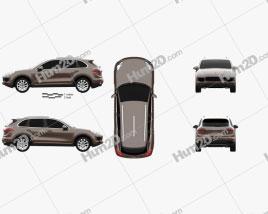 Porsche Cayenne S Diesel 2014 car clipart