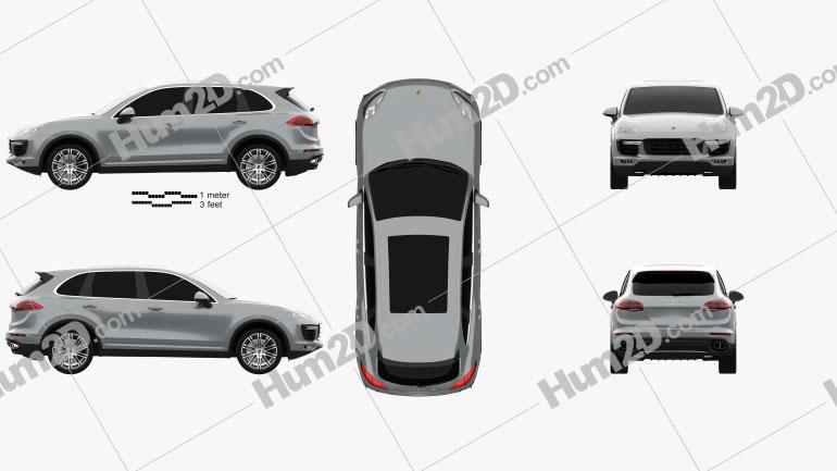 Porsche Cayenne Turbo 2014 Clipart Bild