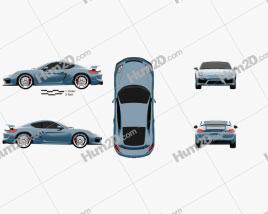 Porsche Cayman GT4 2014 car clipart