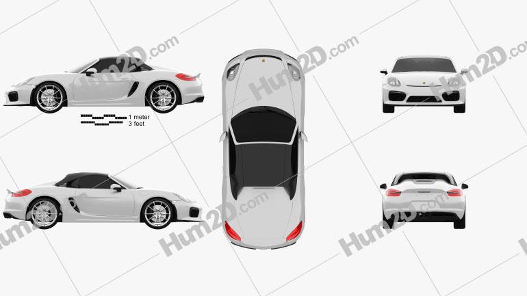 Porsche Boxster 981 Spyder 2016 car clipart