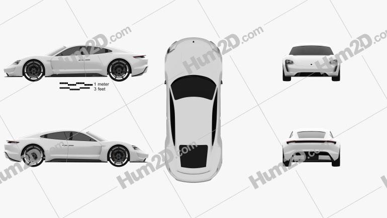 Porsche Mission E 2015 car clipart