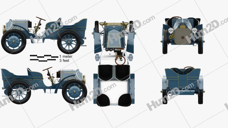 Porsche-Lohner Mixte Hybrid 1900 car clipart