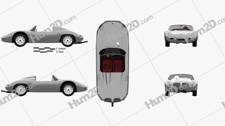 Porsche 718 1959 car clipart