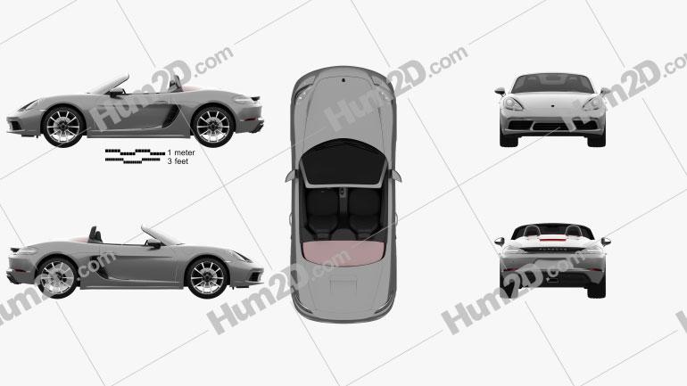Porsche 718 Boxster 2016 car clipart