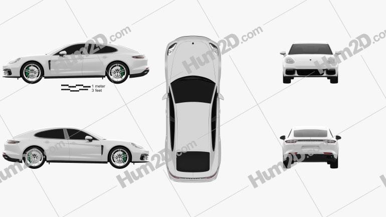 Porsche Panamera 4 E-Hybrid 2016 car clipart