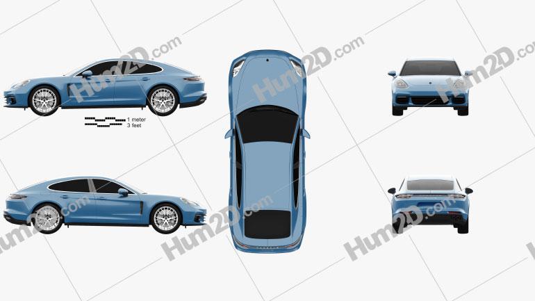 Porsche Panamera 4S 2016 car clipart
