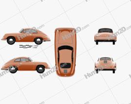 Porsche 356 Coupe 1948 car clipart