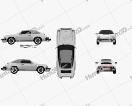 Porsche 911 Speedster (911) 1989 car clipart