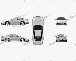 Porsche 911 Turbo Coupe (996) 2000 car clipart