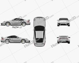 Porsche 911 GT2 (997) 2007 car clipart