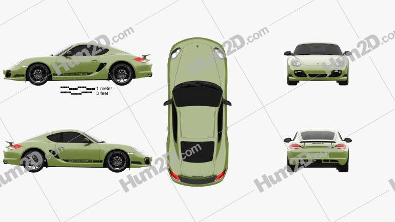 Porsche Cayman R (987C) 2010 car clipart