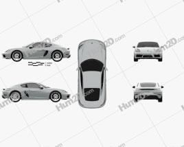 Porsche Cayman 718 (982C) 2016 car clipart