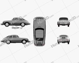 Porsche 356 SC Coupe 1963 car clipart