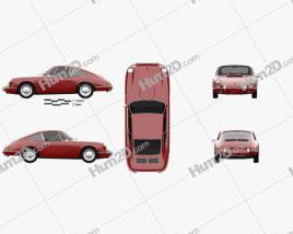 Porsche 911 Coupe Prototyp (901) 1962 car clipart
