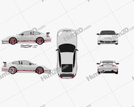 Porsche 911 GT3RS Coupe (996) 2003 car clipart