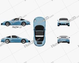 Porsche 911 Targa (991) 4S 2016 car clipart