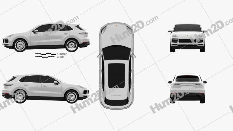Porsche Cayenne S 2017 car clipart