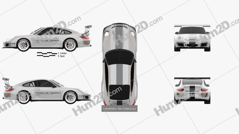 Porsche 911 Carrera GT3 Cup Car 2010 car clipart