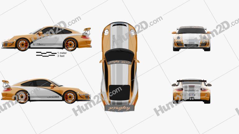 Porsche 911 GT3 RS 2011 car clipart