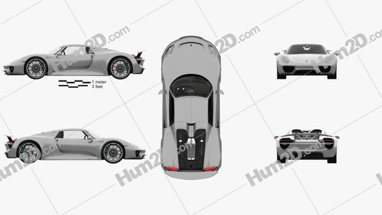 Porsche 918 spyder mit HD Innenraum 2015 car clipart