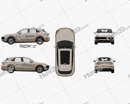 Porsche Cayenne Turbo with HQ interior 2017 car clipart