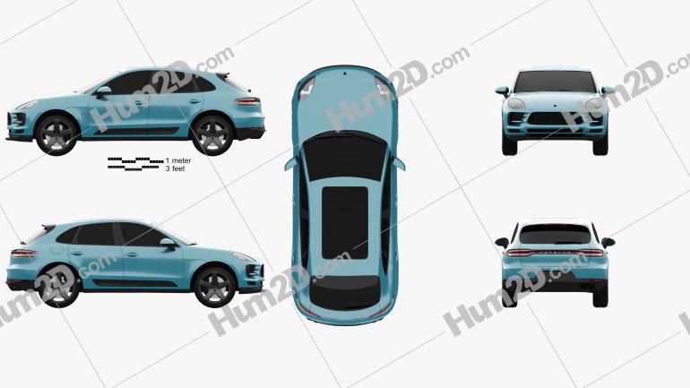 Porsche Macan S 2018 Clipart Image