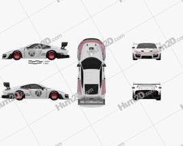 Porsche 935 2019 car clipart