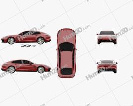 Porsche Panamera GTS 2019 car clipart