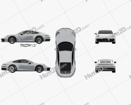 Porsche 911 Carrera 4S coupe 2019 car clipart