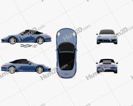 Porsche 911 Carrera 4 Cabriolet 2012 car clipart