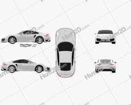 Porsche 911 Turbo S coupe 2012 car clipart