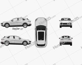 Porsche Cayenne S with HQ interior 2017 car clipart