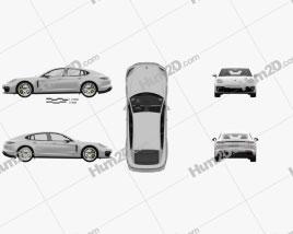 Porsche Panamera GTS with HQ interior 2019