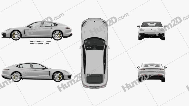 Porsche Panamera GTS mit HD Innenraum 2019 car clipart