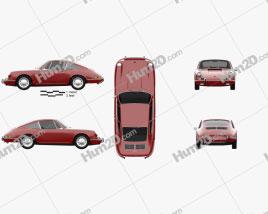 Porsche 912 coupe 1966 car clipart