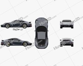 Porsche 911 Turbo S coupe 2019 Clipart