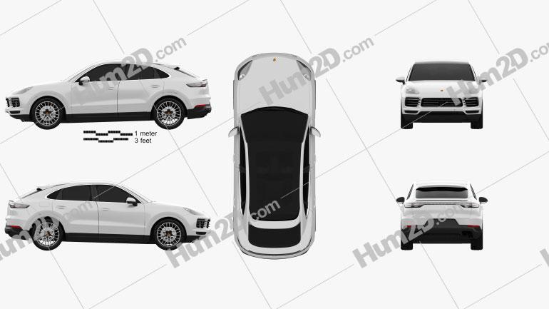 Porsche Cayenne S coupe 2019 car clipart