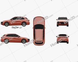 Porsche Cayenne GTS 2020 car clipart