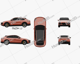 Porsche Cayenne GTS coupe 2020 car clipart