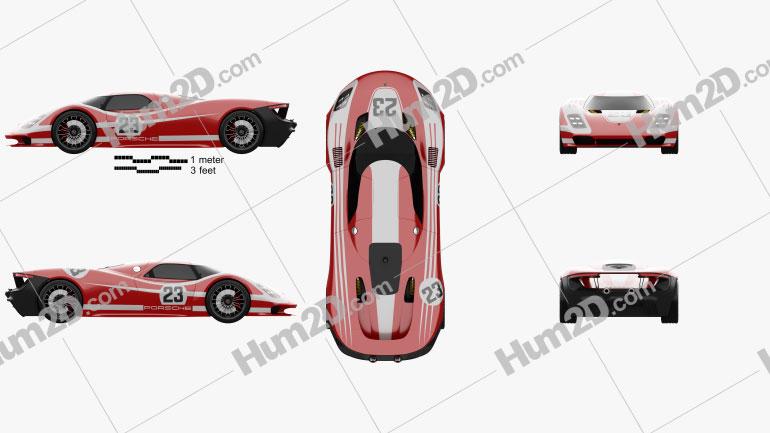 Porsche 917 Living Legend 2013 car clipart