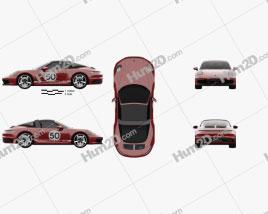 Porsche 911 Targa 4S Heritage 2021 car clipart