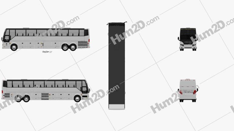 Prevost H3-45 Bus 2004 Clipart Image